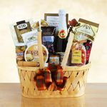 Custom Gourmet Picnic Food & Wine Gift Basket