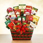 Custom Season's Greetings Merrymaker Deluxe Holiday Gift Basket