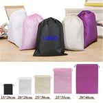 Custom MOQ 100pcs Small Non-Woven Drawstring Tote Bag