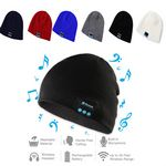 Custom Wireless Knit Beanie Cap With Bluetooth Earphone
