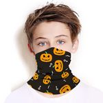 Back to School Reusable Youth Neck Gaiter Seamless Kids Face Mask