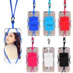 Custom Silicone Phone Wallet With Lanyard
