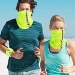 Visibility Reflective Neck Gaiter Safety Bandana UV Protection Scarf