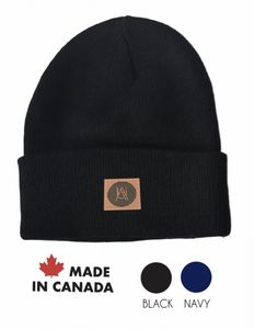 fb6c477a9a9 Made in Canada Rib-knit winter cuff beanie with debossed patch - CAN-A310 -  IdeaStage Promotional Products