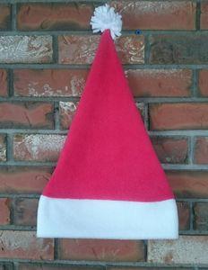 Custom Printed Polar Fleece Santa Hats