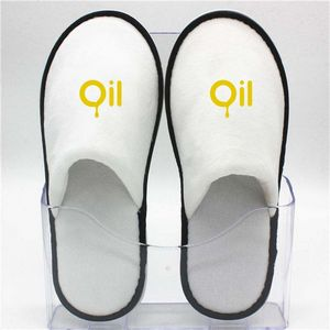 979a696ab Disposable Velvet Non-skip Close-toe Hotel Slipper - LHFF22 - IdeaStage  Promotional Products