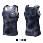 Men's Athletic Compression Body Shaper Vest Sport Base Layer