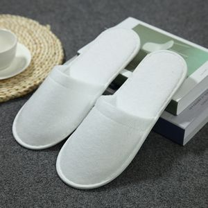 986873305 Disposable Plush Closed-toe Hotel Slipper - LHFF36 - IdeaStage Promotional  Products