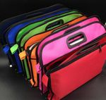 Custom B4 Document Folder File Bag Double Zipper
