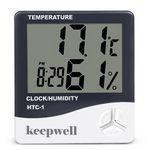 Custom Big Screen Household Thremometer Alarm Digital Hygrometer
