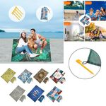 Custom 39.5 x 55 inch Personalized Oversized Quick Dry Sand-Free Beach Blanket Picnic Mat