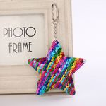 Custom Star Shaped Reversible Sequins Keychain