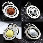 Soccer/Basketball/Golf/Tennis Design Spinning Metal Key Chains