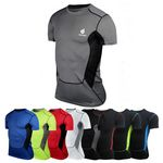 Custom Men's Dry Fit Compression Gym Wear Running Sport T-shirt