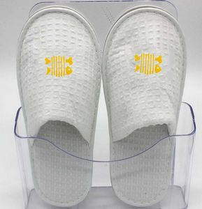 f2a2107b4faa Disposable Waffle Close-toe Hotel Slipper - LHFF20 - IdeaStage Promotional  Products