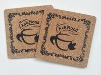 Custom Soft Square Wooden Cork Coaster