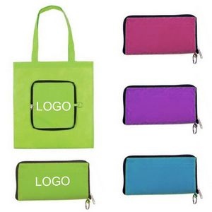 8e2cfac12a42 Zip-Up Folding Custom Tote bags - PFH6307 - IdeaStage Promotional Products