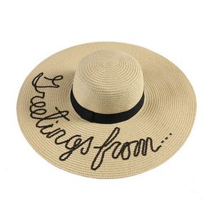 Exclusive Lettering Sun Straw Hat Women Beach Floppy Sun Hat - CCGS8079S -  IdeaStage Promotional Products 951eedecc09