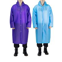 Reusable EVA Raincoat With Drawstring Hood
