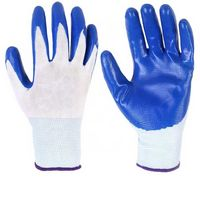 Protective Safety Gloves With Colorful Rubber Cover
