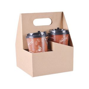 Paper Coffee Cup Carrier W Handle Mygs040s Ideastage Promotional Products