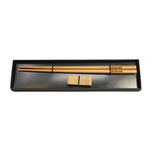 Custom Printed Bamboo Chopsticks and Rest Sets