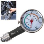 Custom Deluxe Metal Dial Tire Gauge w/ Travel Pouch