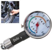 Deluxe Metal Dial Tire Gauge w/ Travel Pouch