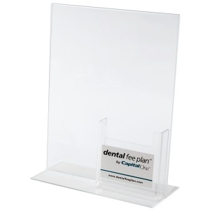Bottom Loading Styrene Holder w/Tri-Fold Pocket (4)