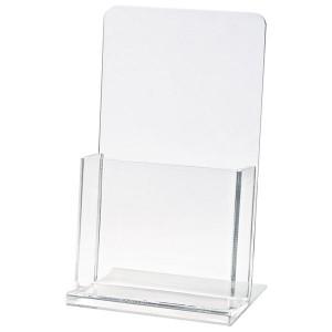Clear Countertop Brochure Holder (4 1/4x9x1 1/2 Insert)