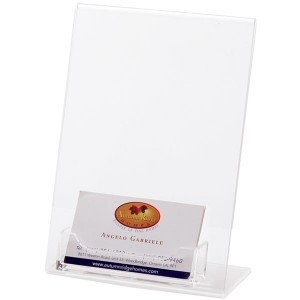 Acrylic Holder w/Business Card Pocket (5x7)