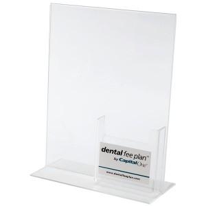 Acrylic Bottom Loading Frame w/Tri-Fold Pocket (4)