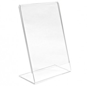 Angled Acrylic Display Stand (8.5x11)