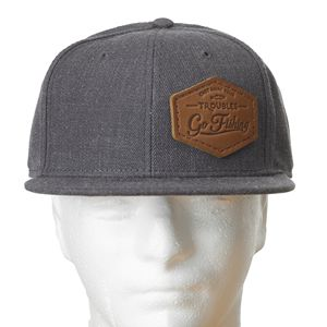 578396074919d Leather Patch on a Wool Flat Bill Cap Hat - OP-151-WOOL - IdeaStage  Promotional Products