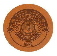 Single Round Leather Coasters