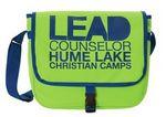Custom Boardwalk Messenger Bag w/Buckle Snap Closure