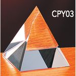 Custom Small Crystal Pyramid Award