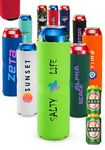 Tall Boy Neoprene Collapsible Can Coolers