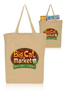 6e539d436a Gusseted Cotton Tote Bags (14.5
