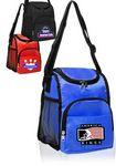 Custom Multipurpose Insulated Lunch Bag w/ Zipper Pockets