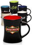 Custom 9 Oz. Aztec Two-Tone Open Handle Coffee Mugs