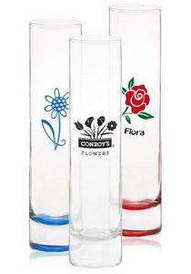 Custom Made Clear Glass Bud Vases