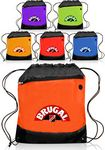 Custom Earbud Port Drawstring Backpacks