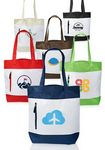 Custom Seaside Tote Bags with Front Zipper