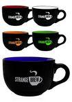 Custom 23 Oz. Two Tone Soup Mugs w/ Handles