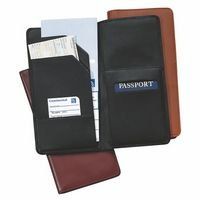 Royce Leather Airline Boarding Pass Passport Travel Wallet in Genuine Leather