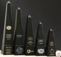 "Green Genuine Marble Obelisk Award (8"")"