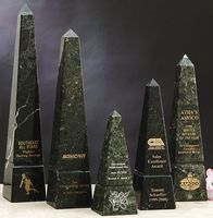"Green Genuine Marble Obelisk Award (16"")"