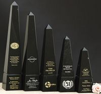 "Green Genuine Marble Obelisk Award (10"")"