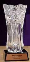 "Executive Crystal Vase (11.5"")"